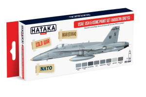 HTK-AS44 USAF, USN & USMC paint set (modern greys)