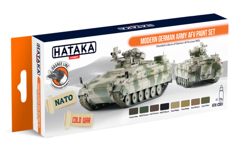 HTK-CS81 Modern German Army AFV paint set