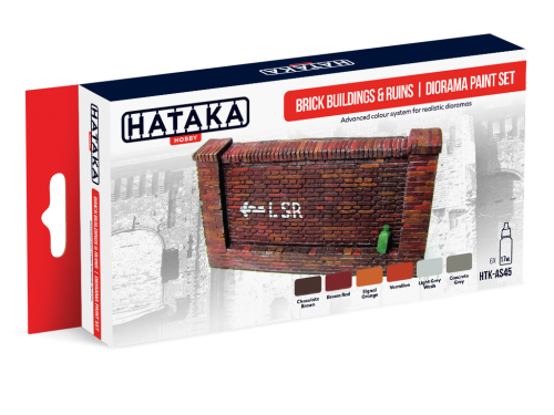 HTK-AS45 Brick buildings & ruins | diorama paint set