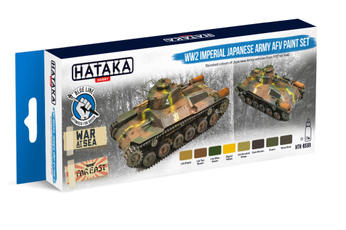 HTK-BS69 WW2 Imperial Japanese Army AFV paint set
