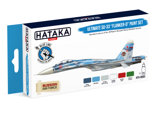 "HTK-BS83 Ultimate Su-33 ""Flanker-D"" paint set"