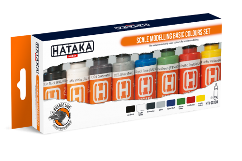 HTK-CS100 Scale modelling basic colours set