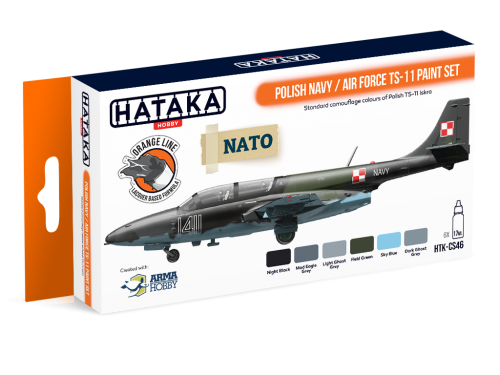 HTK-CS46 Polish Navy / Air Force TS-11 paint set